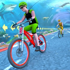 水下快速自行车特技