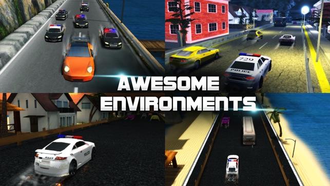 赛车游戏:警察赛车
