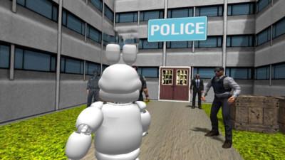 白套灰狼脸拉斯维加斯警察